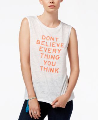 RACHEL Rachel Roy Graphic Tank Top