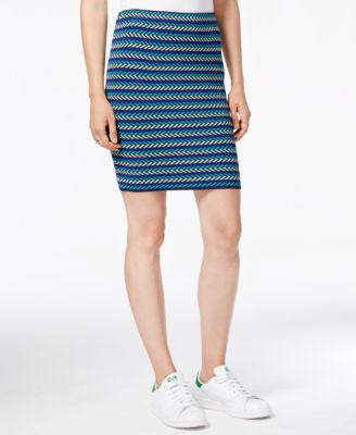 RACHEL Rachel Roy Striped Sweater Skirt