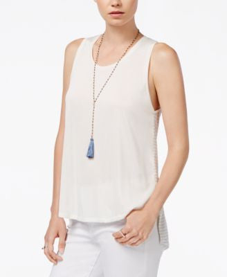 RACHEL Rachel Roy Split-Back Sleeveless Top