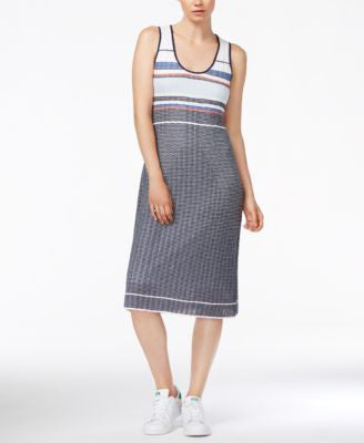 RACHEL Rachel Roy Striped Sleeveless Dress