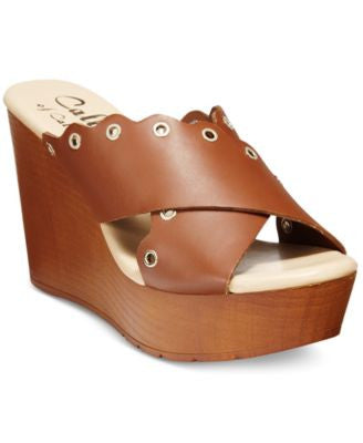 Callisto Darcii Platform Wedge Sandals