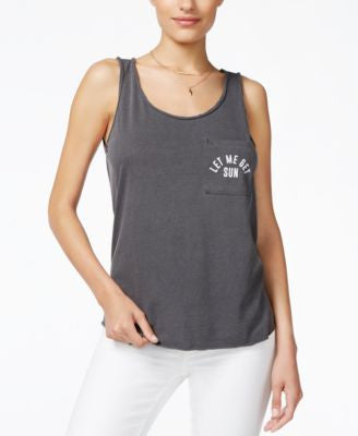 GUESS Pocket Graphic-Print Tank Top