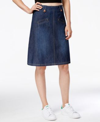 RACHEL Rachel Roy A-Line Denim Skirt