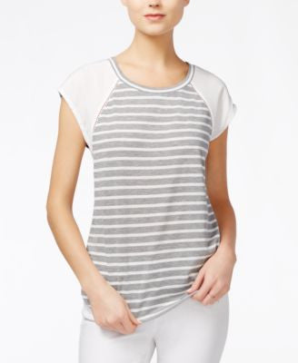 Maison Jules Striped Short-Sleeve Top, Only at Vogily