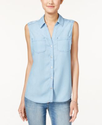 Maison Jules Sleeveless Shirt, Only at Vogily