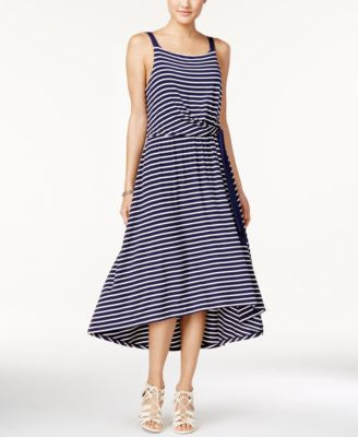 Maison Jules Striped Tie-Front Midi Dress, Only at Vogily