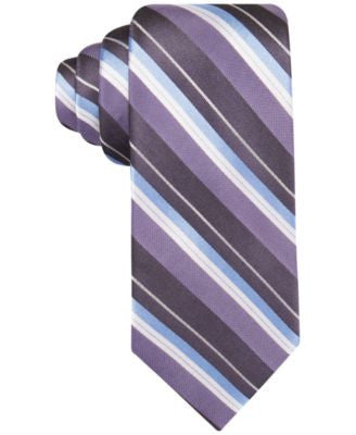 Ryan Seacrest Distinction Men's Bedford Slim Stripe Tie, Only at Vogily