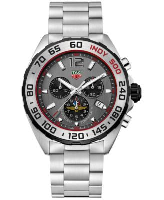 TAG Heuer Men's Swiss Formula 1 Limited Edition Indy 500 Chronograph Stainless Steel Bracelet Watch