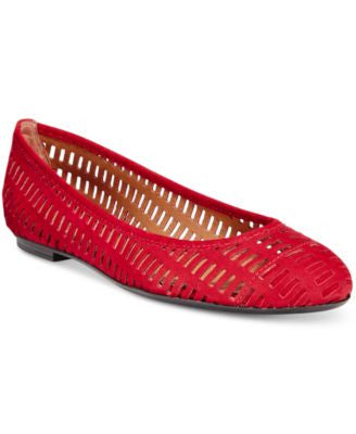 French Sole FS/NY Quartz Perforated Flats