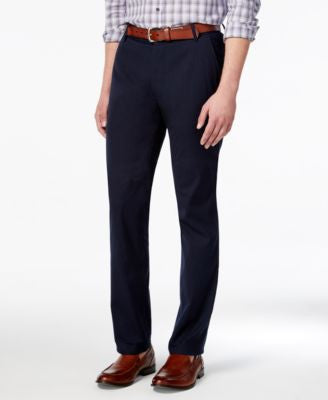 Vince Camuto Men's Navy Seersucker Stripe Slim-Fit Stretch Cotton Pants