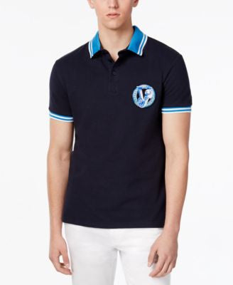 Versace Men's Contrast Trim Polo