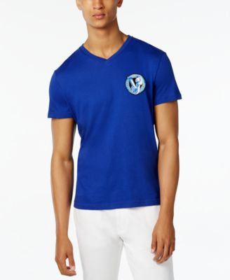 Versace Men's Logo-Graphic V-Neck T-Shirt
