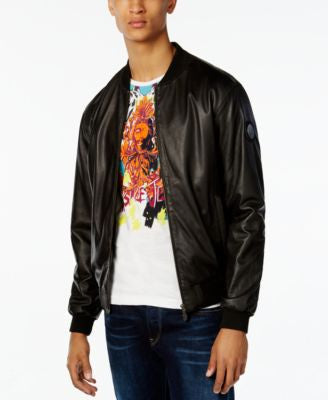 Versace Men's Black Leather Jacket