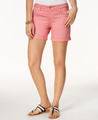 Tommy Hilfiger Colored Wash Cuffed Denim Shorts