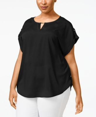 Calvin Klein Plus Size Hardware Keyhole Top