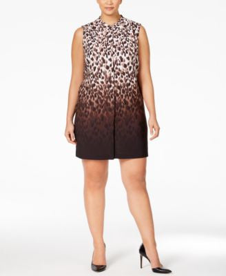 Calvin Klein Animal-Print Ombré Shift Dress