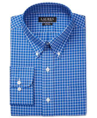 Lauren Ralph Lauren Men's Slim-Fit Non-Iron Check Dress Shirt