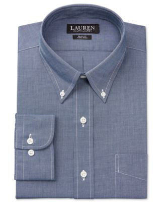 Lauren Ralph Lauren Men's Slim-Fit Non-Iron Textured Solid Dress Shirt