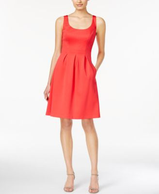Nine West Sleeveless Pleated Fit & Flare Dress