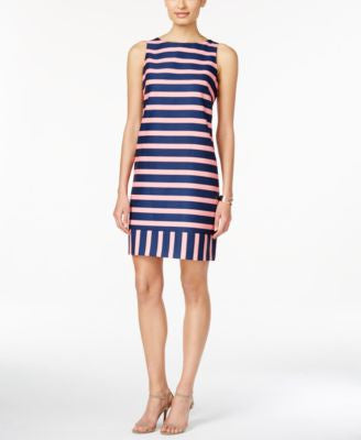 Jessica Howard Textured Striped Shift Dress
