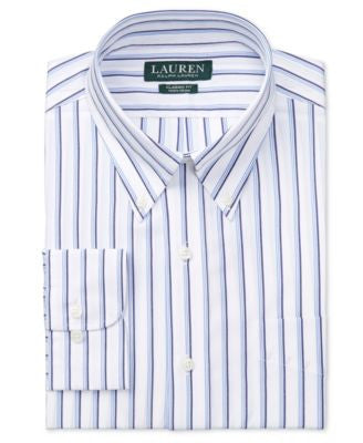 Lauren Ralph Lauren Men's Classic-Fit Non-Iron Multi-Stripe Dress Shirt