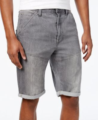 GStar Men's Tapered-Leg Folded-Cuff Denim Shorts