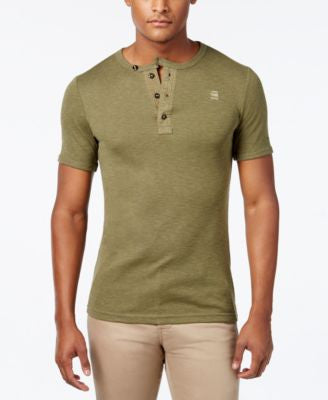 GStar Men's Heathered Henley