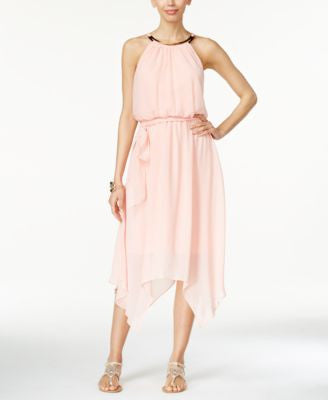 Thalia Sodi Chiffon Handkerchief-Hem Dress, Only at Vogily