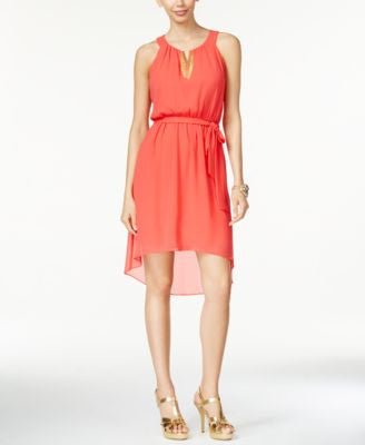 Thalia Sodi Chain-Trim High-Low Dress, Only at Vogily