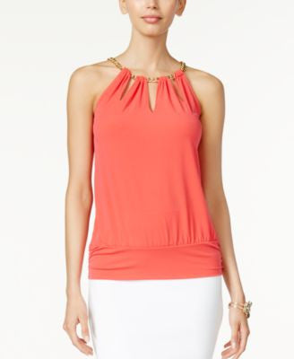 Thalia Sodi Chain-Neck Cutout Halter Top, Only at Vogily