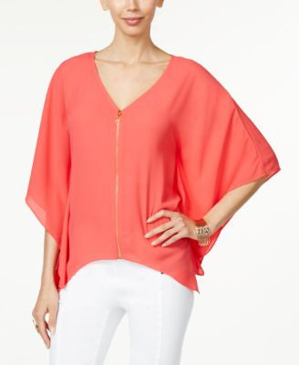 Thalia Sodi Zipper-Front Cape Tunic, Only at Vogily