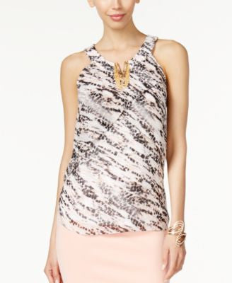 Thalia Sodi Embellished Split-Neck Top, Only at Vogily