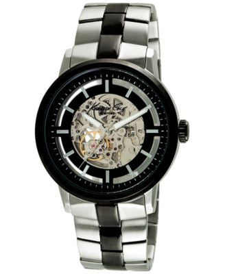 Kenneth Cole New York Men's Automatic Two-Tone Ion-Plated Stainless Steel Bracelet Watch 46mm 100267