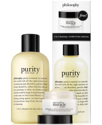 philosophy purity and anti-wrinkle miracle worker duo
