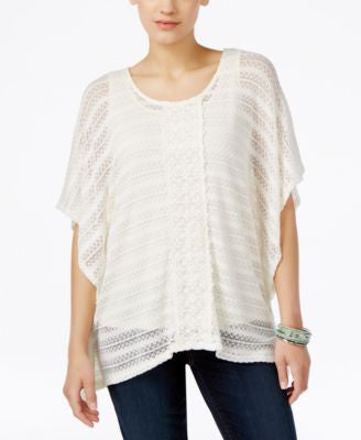 Style & Co. Crochet Poncho Top, Only at Vogily