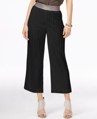 Alfani Petite Metallic-Waistband Culottes, Only at Vogily