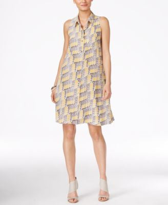 Alfani Petite Printed Shirtdress, Only at Vogily