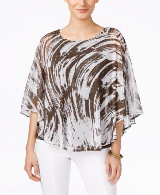 Alfani Printed Poncho Top, Only at Vogily