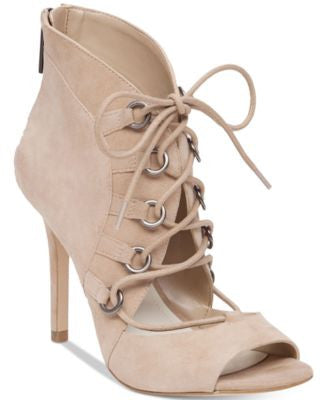 BCBGeneration Deirdra Lace-Up Cut-Out High-Heel Booties