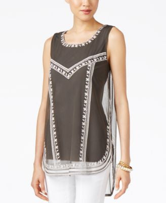 Alfani Petite Embroidered Tank Top, Only at Vogily