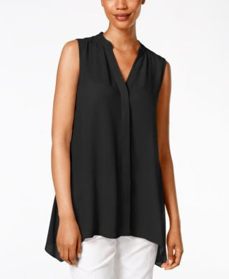 Alfani Petite Sleeveless Handkerchief-Hem Top, Only at Vogily