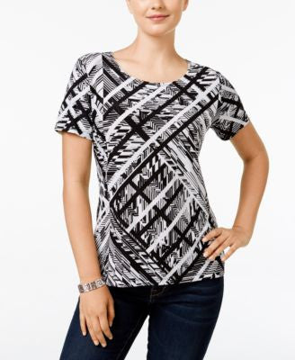 JM Collection Short-Sleeve Printed Top, Only at Vogily
