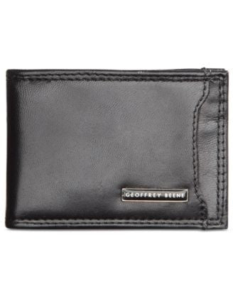 Geoffrey Beene Leather Front Pocket Wallet