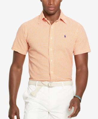 Polo Ralph Lauren Men's Gingham Seersucker Short-Sleeve Shirt