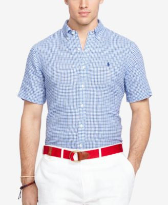 Polo Ralph Lauren Big & Tall Men's Short-Sleeve Checked Shirt