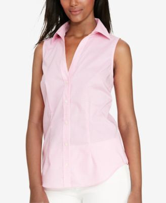 Lauren Ralph Lauren Gingham Sleeveless Shirt