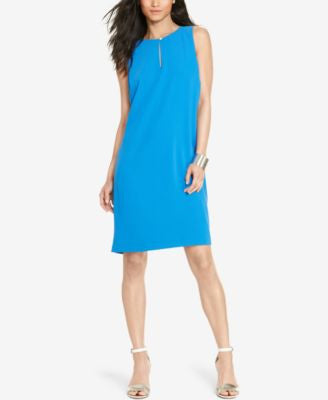 Lauren Ralph Lauren Petite Sleeveless Satin Sheath Dress