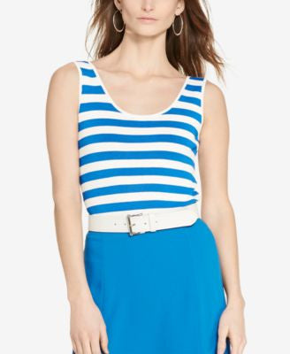 Lauren Ralph Lauren Stretch Striped Tank
