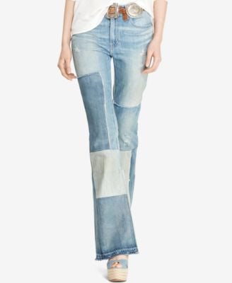 Polo Ralph Lauren Flared Patchwork Jeans