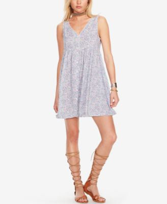 Denim & Supply Ralph Lauren Floral-Print Button-Front Dress